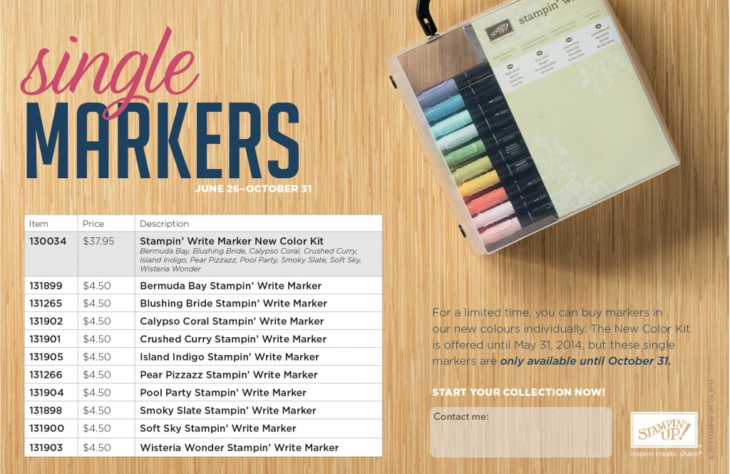 Single Markers New Colors