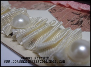 Very Vanilla Seam Ribbon with Pearls