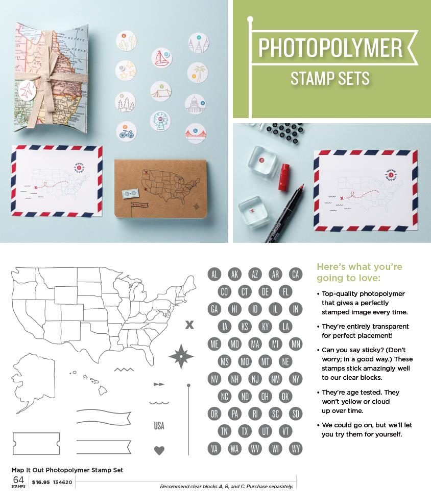 Photopolymer stamp set - Map it Out