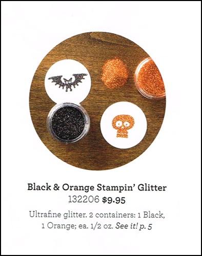 Black and Orange Stampin Glitter