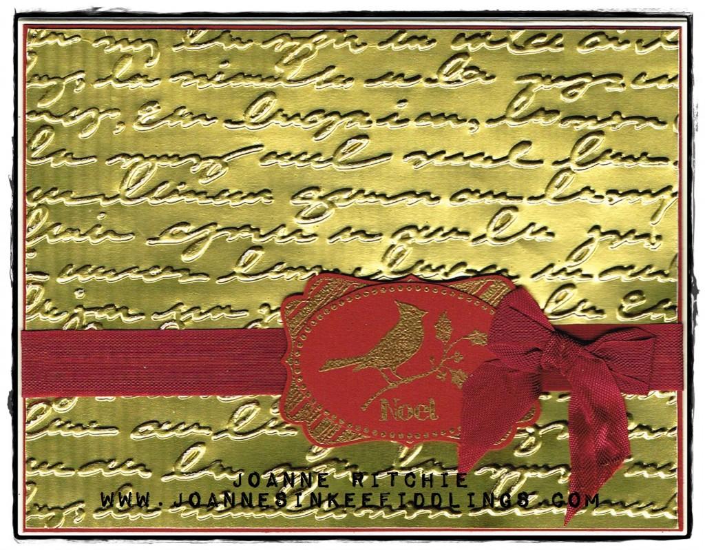 Gold Foil - Script Dry Embossing - JIF
