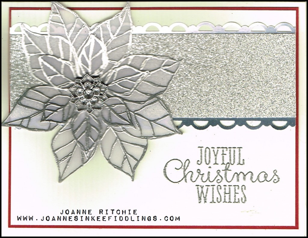 Joyful Christmas - Punched silver Foil - JIF
