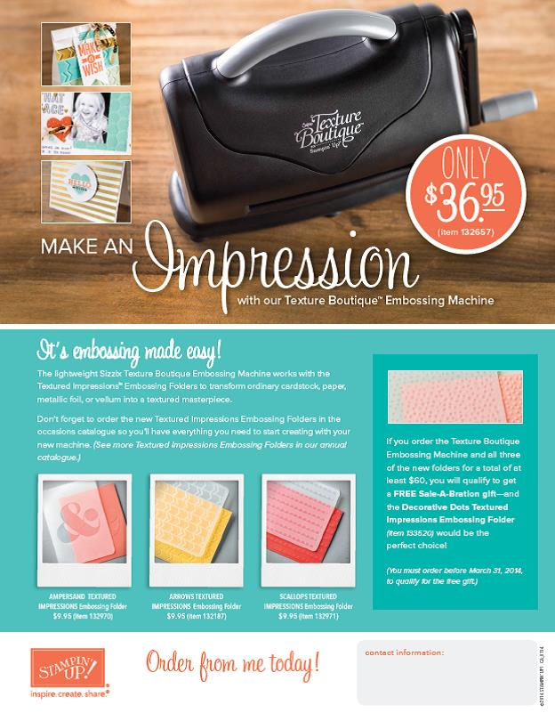 Texture Boutique Embossing Machine - call me today to order yours!