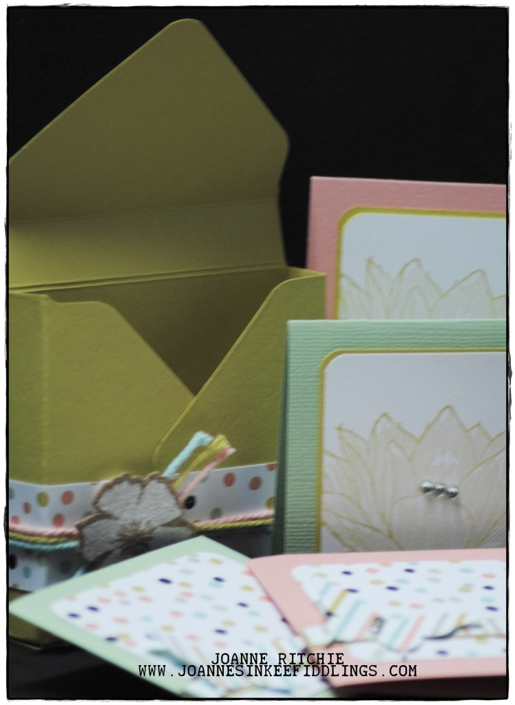 3x3 Card Box with Four Gift Cards