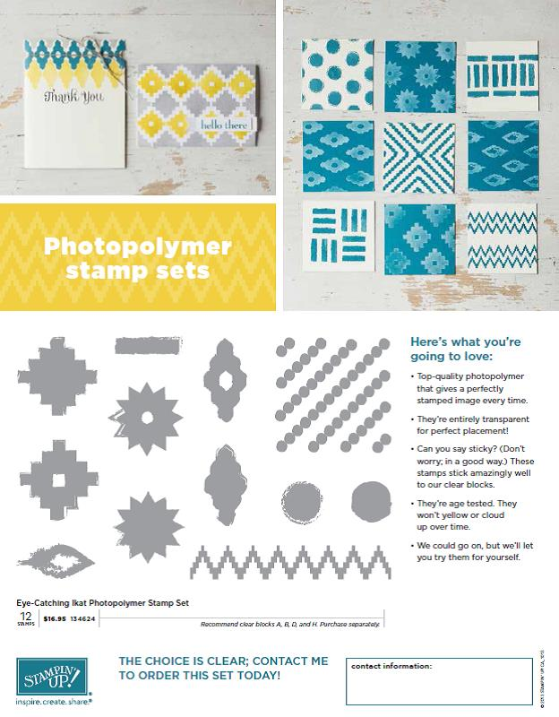 Eye-Catching Ikat Photopolymer Stamp Set