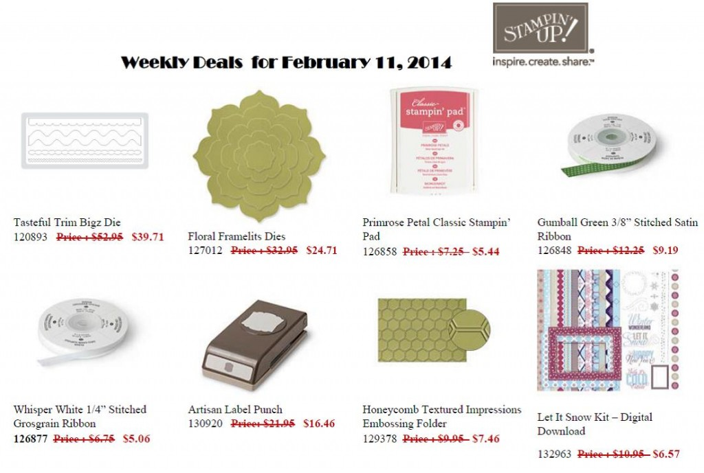 Weekly Specials - 11 to 17 February 2014