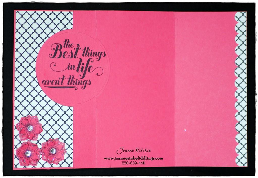 Card Frame - Flowers - Full Inside