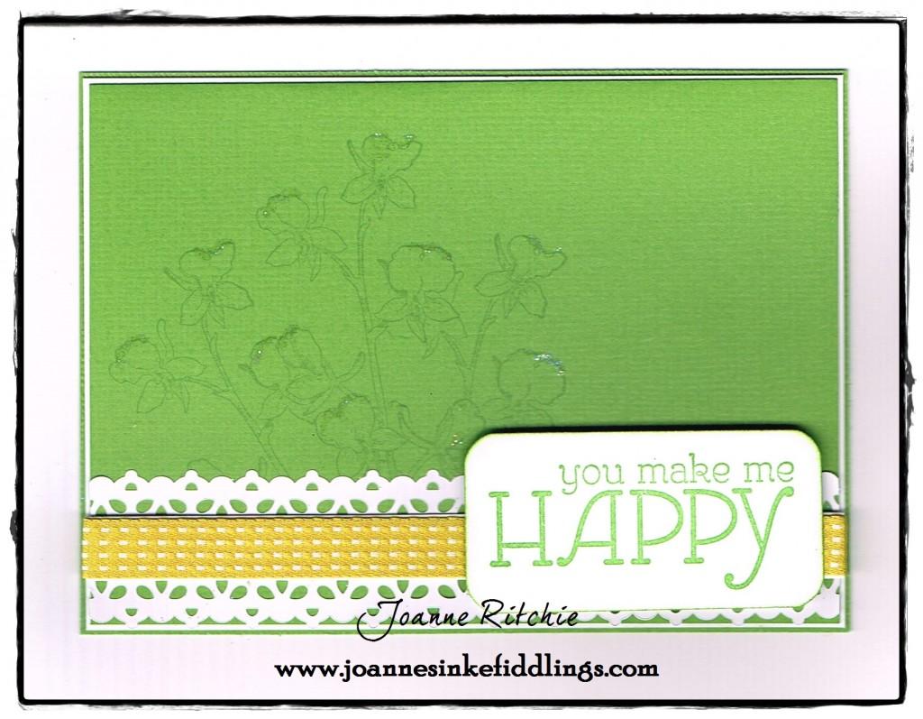 Happy Watercolor - White Lace - JIF