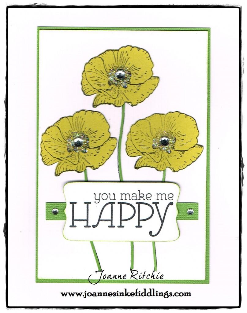 Happy Watercolor - Yellow Poppies - JIF