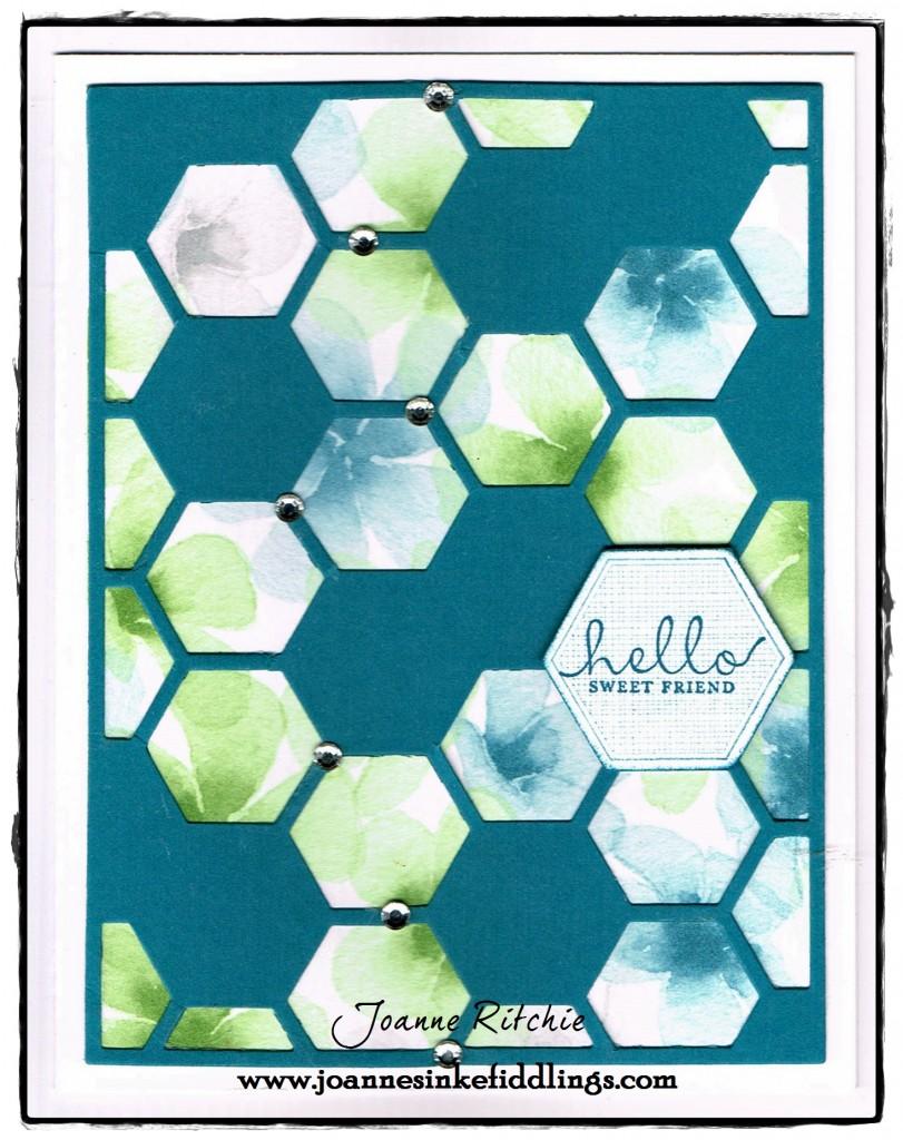 Hexagon Die - Watercolor Paper - JIF