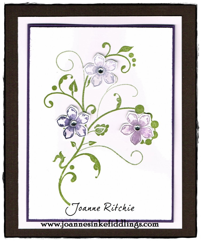 Flowering Flourishes - Purple Frame - JIF