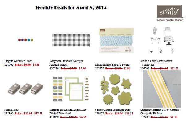 Weekly Deals 8 April