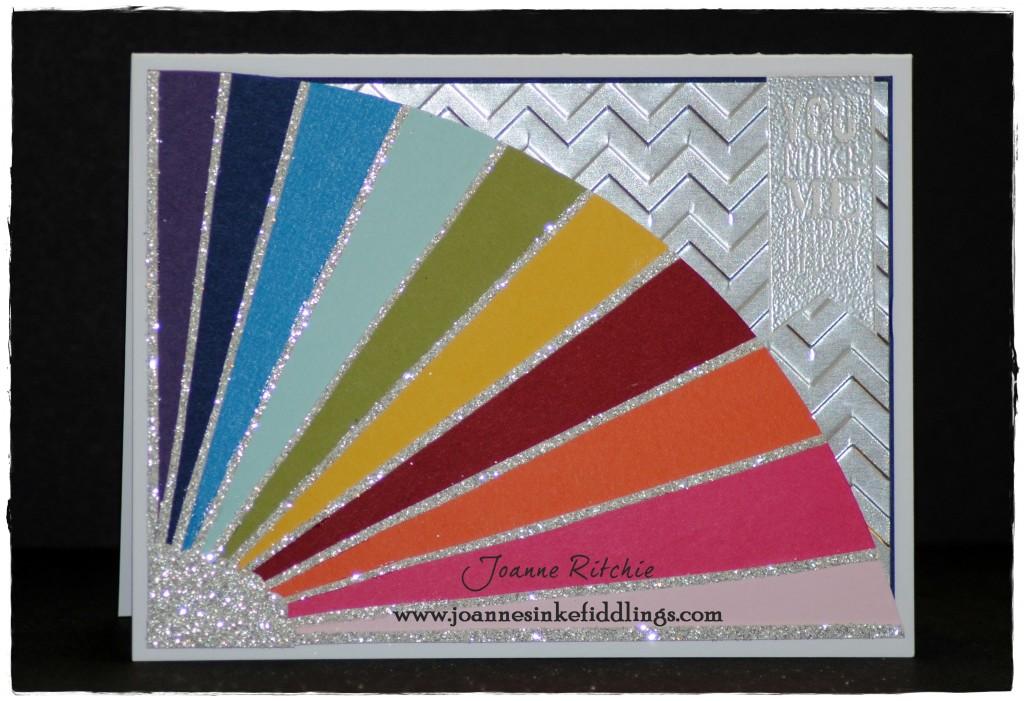Chevron Rainbow - Silver Glimmer Paper - JIF