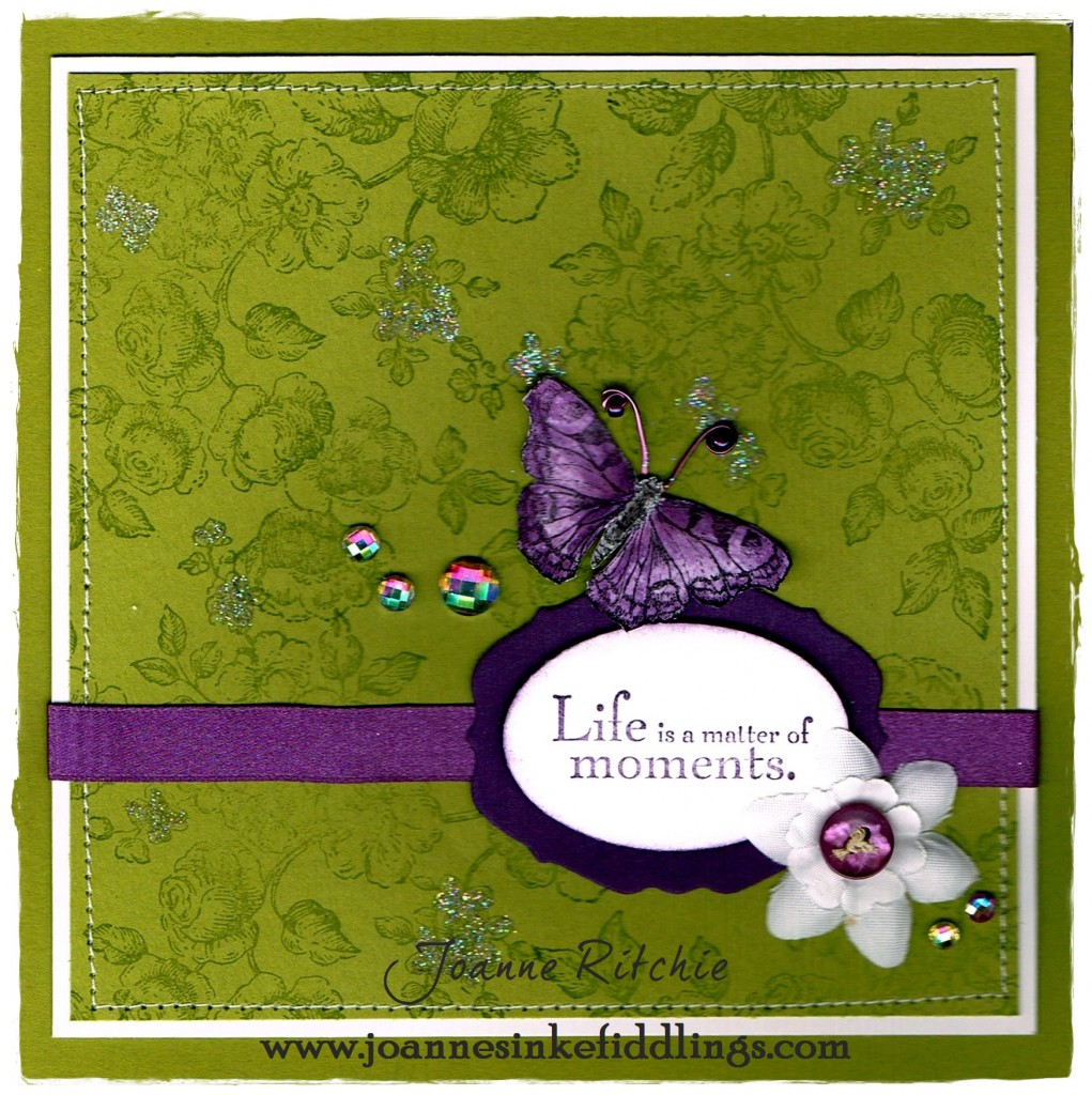 Life is a Matter of Moments - lime green purple - JIF