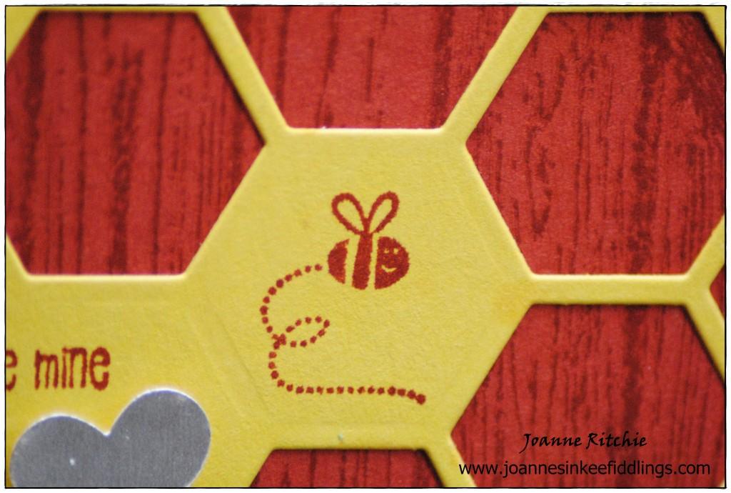 Bee Mine - Hello Honey Hexagons - Cute Bee - JIF