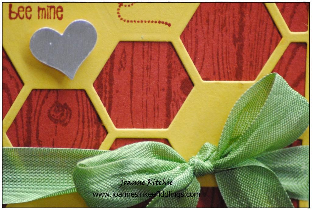 Bee Mine - Hello Honey Hexagons - Ribbon - JIF