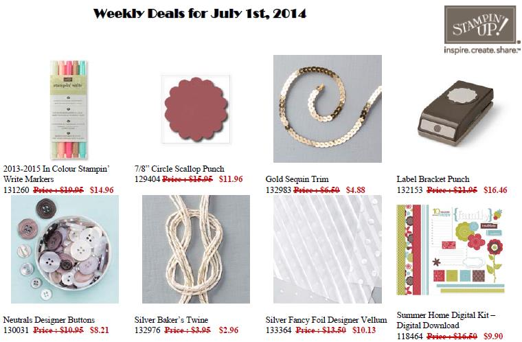 July 1 Weekly Deals - need a little something?!