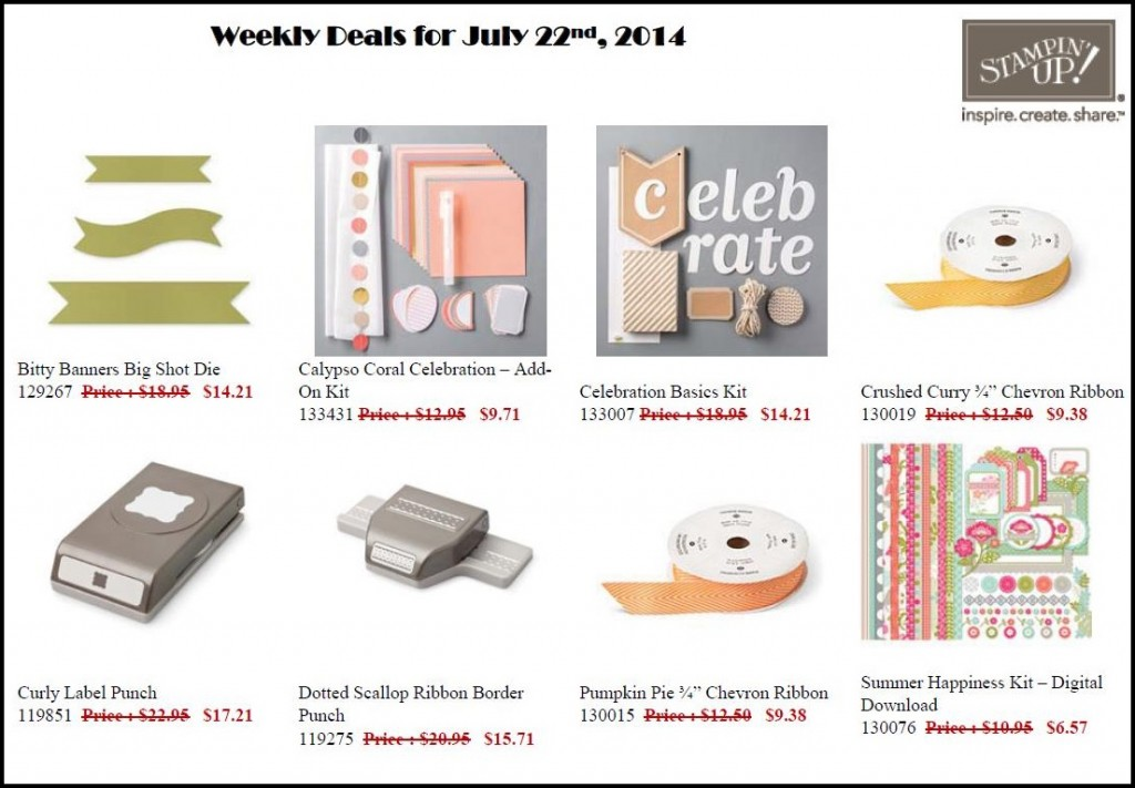 Weekly Deal July 22 - ending July 28!
