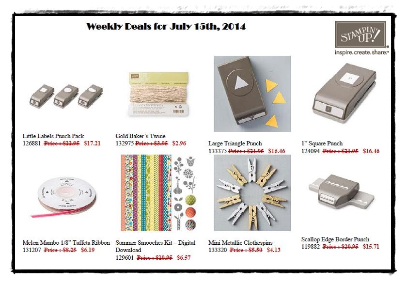 Weekly Deals July 15 through to July 21