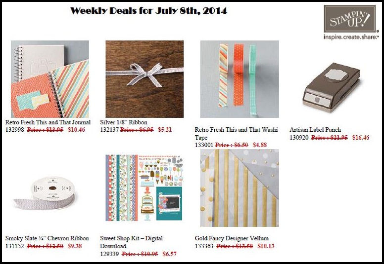Stampin' Up! Weekly Deals - July 8 to 14!