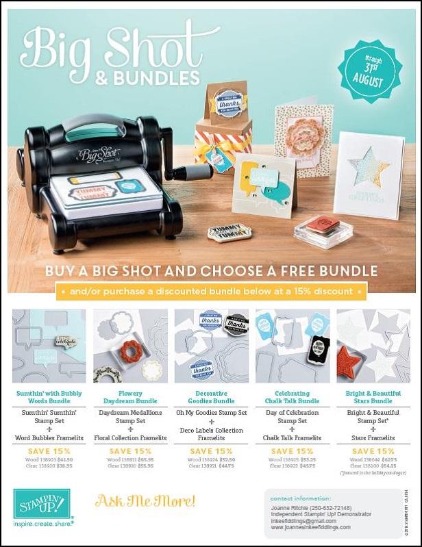 Big Shot Bundles- have YOU got YOURS?!?