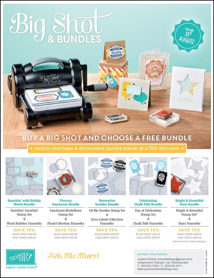 Big Shot and Bundles - order yours TODAY!!!