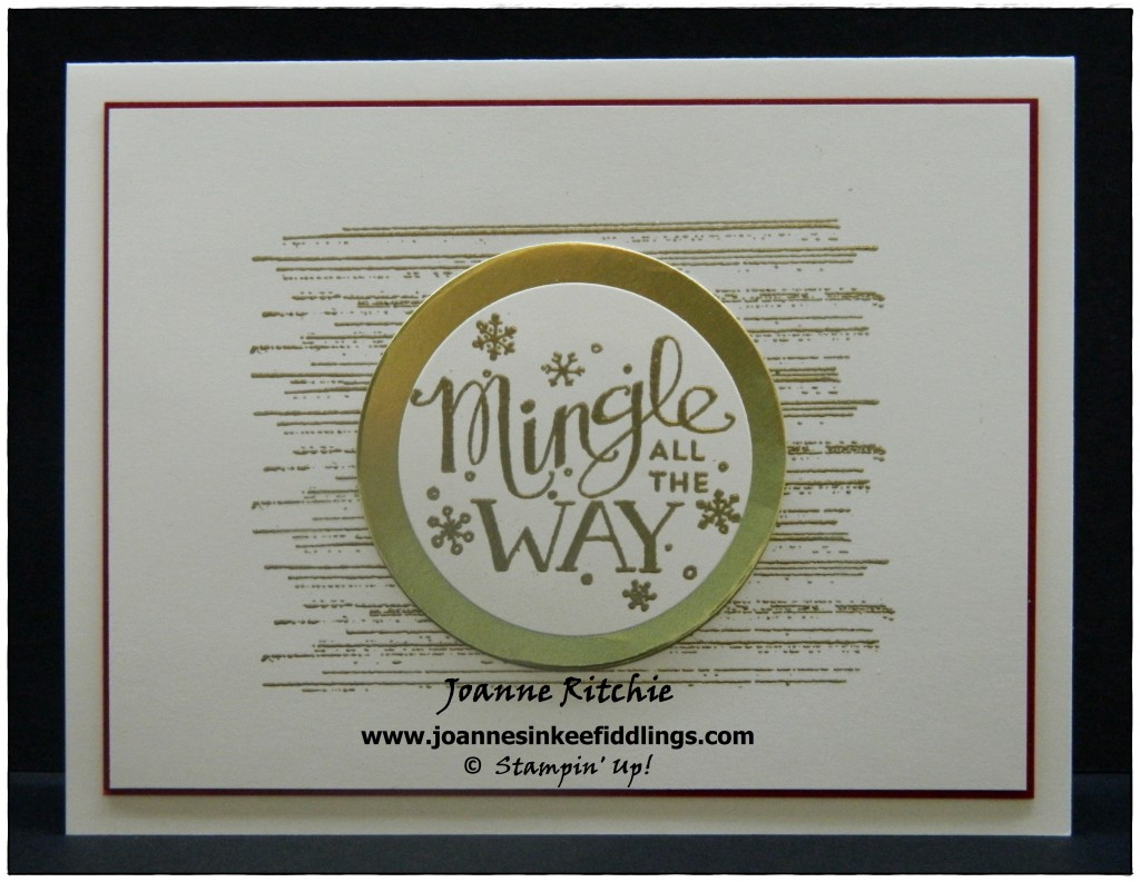 Mingle All the Way - Gold Foil - JIF