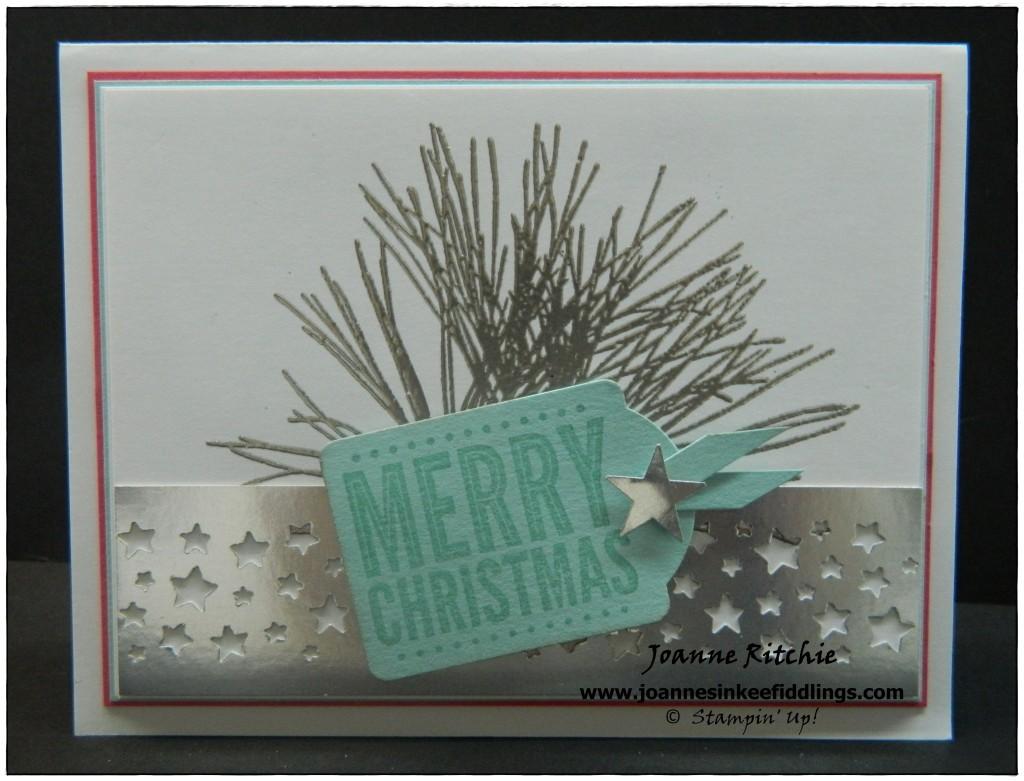 Ornamental Pine - Silver Embossing - JIF