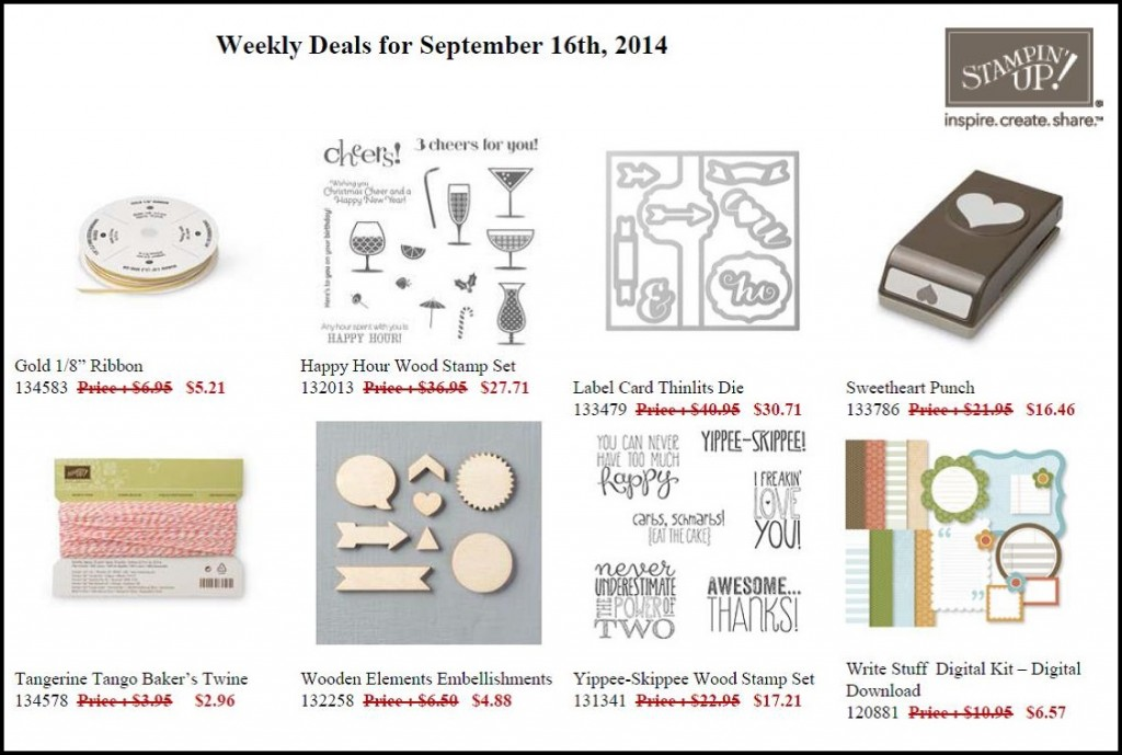 Weekly Deals -  Sept 16 to 22
