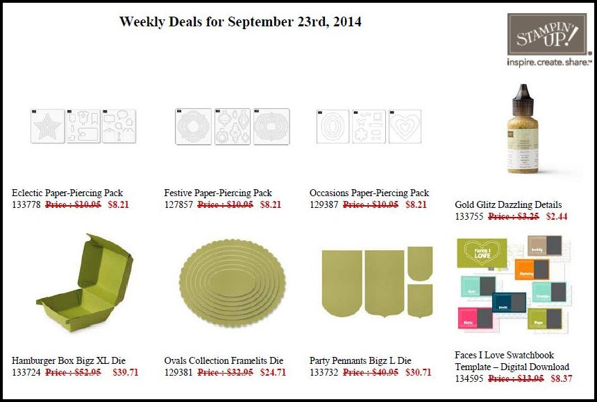 Weekly Deals Sept 23 to 29