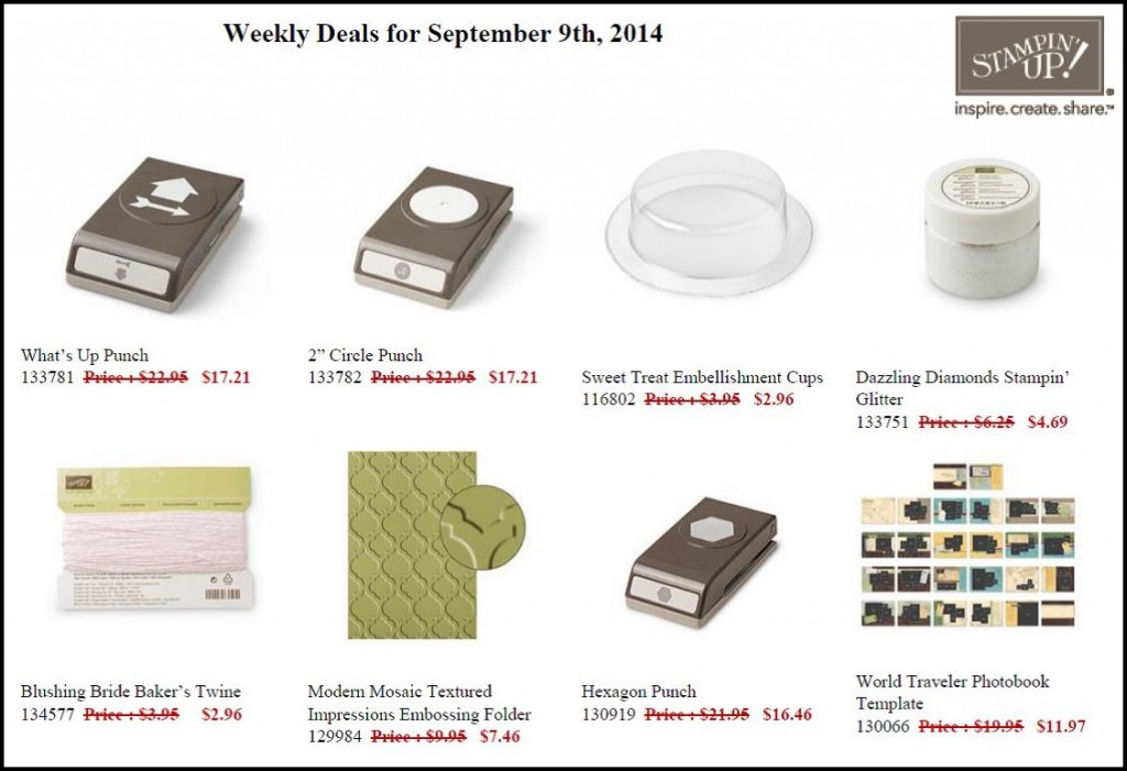 Weekly Deals Sept 9 - 15