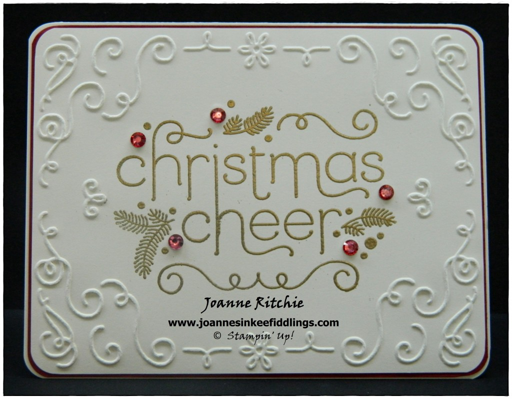Christmas Cheer - Gold Embossing - JIF