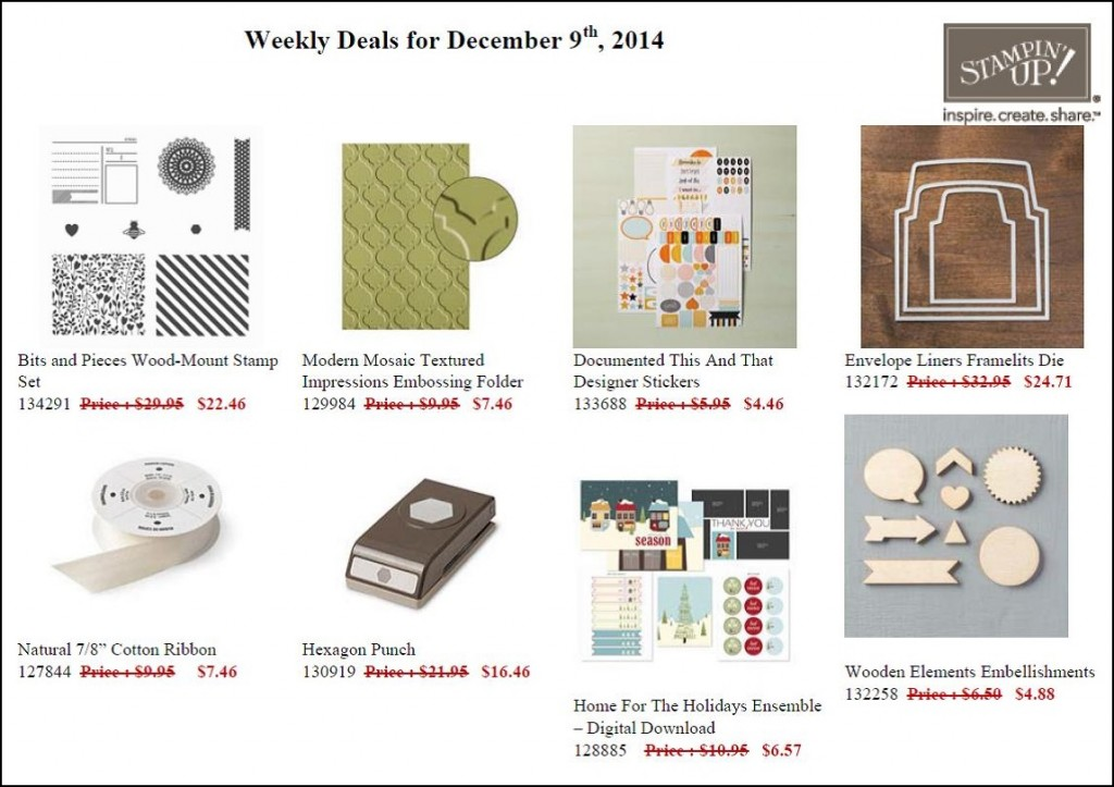 Weekly Deals  - December 9 to 15