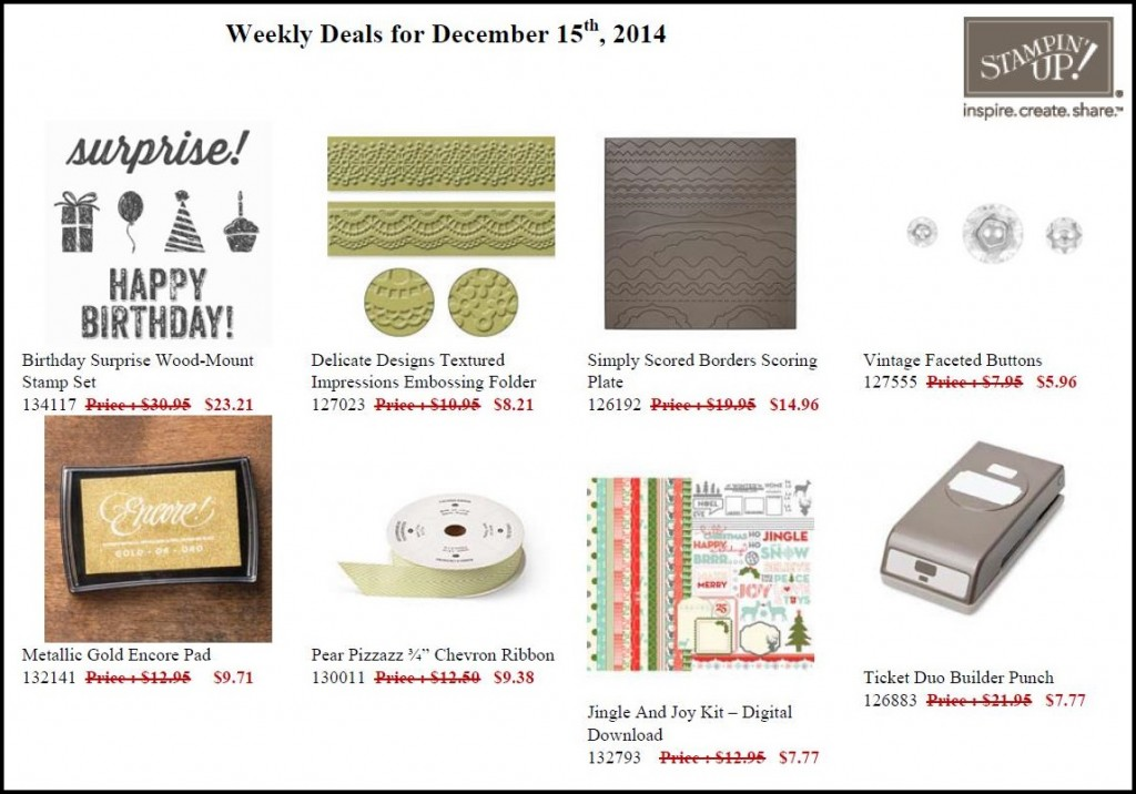 Weekly Deals 16 December