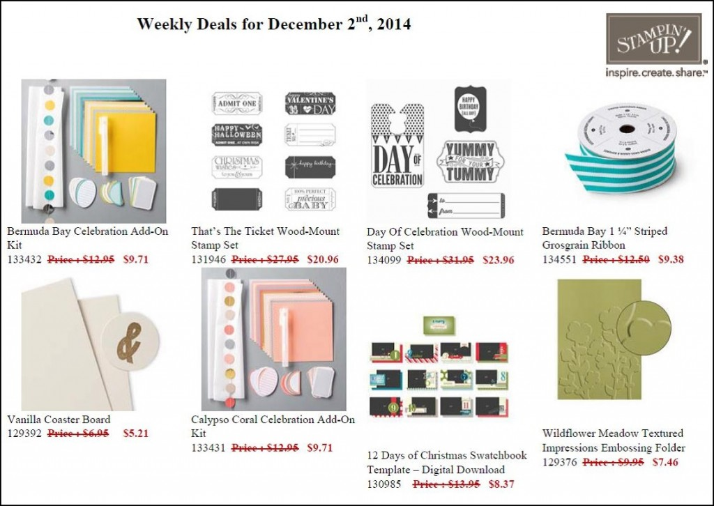 Weekly Deals - 2 to 8 December
