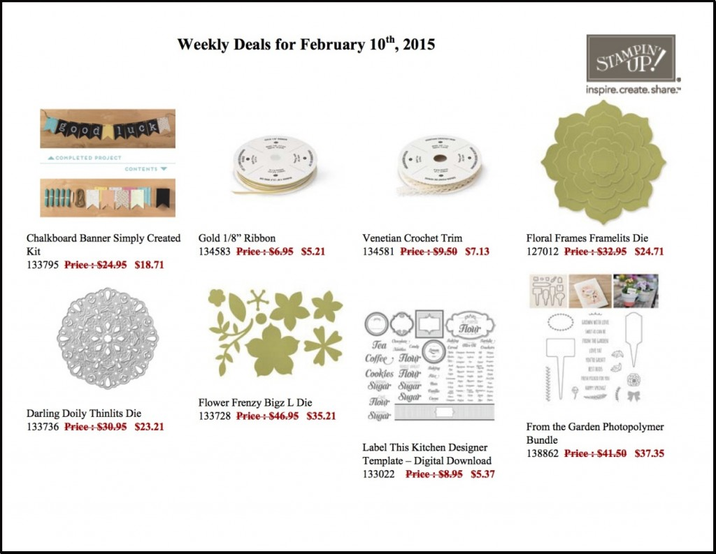 Weekly Deals for Feb 10 to 16