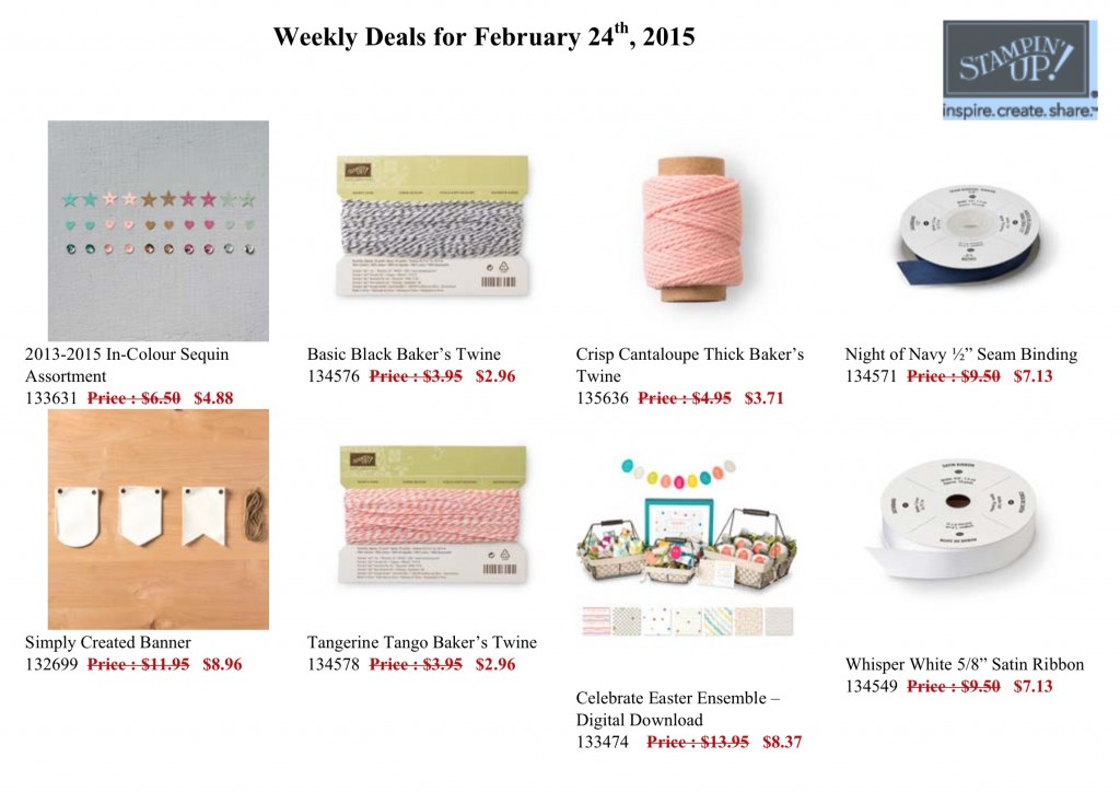 Weekly Deals for this week