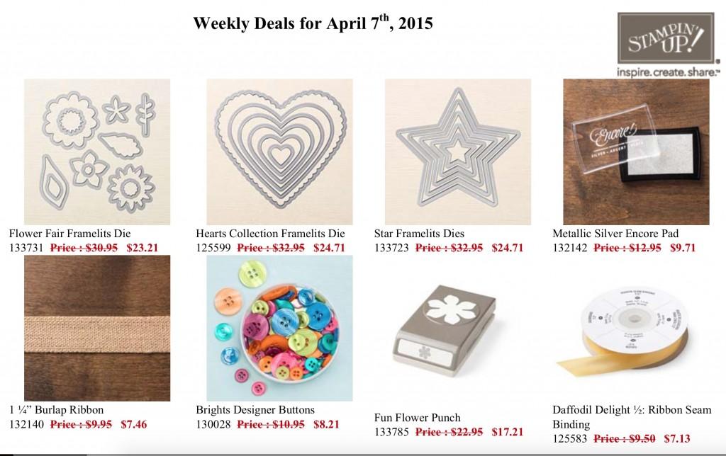 Weekly Deals - April 7